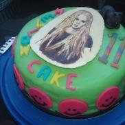 Avril lavigne in chocola geschilderd