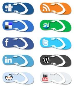 Bron: http://effbomb.deviantart.com/art/Flip-Flop-Social-Media-Icons-150444713